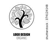 design elements for organic... | Shutterstock . vector #374124148