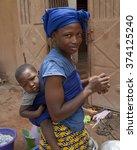 Small photo of Mopti, Mali-Aug. 26, 2011: Malian woman