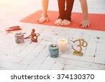 spiritual accessories  candles  ...   Shutterstock . vector #374130370