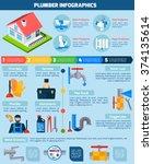 plumber service flat... | Shutterstock .eps vector #374135614