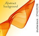 abstract orange wave | Shutterstock .eps vector #374139298
