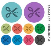 color cut out flat icon set on...