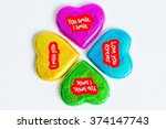 chocolate wrapper  on valentine'... | Shutterstock . vector #374147743