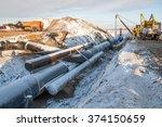 in the pipeline construction | Shutterstock . vector #374150659