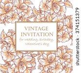 vintage delicate invitation... | Shutterstock .eps vector #374151379