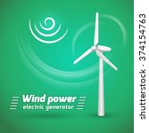 wind power electric tower... | Shutterstock .eps vector #374154763