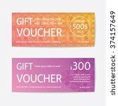 gift voucher modern template  | Shutterstock .eps vector #374157649