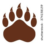 Brown Bear Paw With Claws....