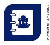 notebook  address  phone book... | Shutterstock .eps vector #374180878