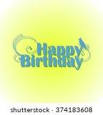 happy birthday sign. vector... | Shutterstock .eps vector #374183608