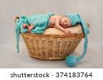 Sweet Newborn Baby Sleeping In...