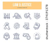 concept icons of law  justice ... | Shutterstock .eps vector #374191378