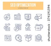 concept icons of seo... | Shutterstock .eps vector #374191594