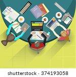 businessman brainstorming | Shutterstock .eps vector #374193058