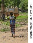 Small photo of Mopti, Mali-Aug. 27, 2011: Malian woman