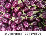 closeup view of small purple... | Shutterstock . vector #374195506