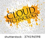 cloud technology word cloud... | Shutterstock . vector #374196598