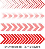 sideways set . linear signs... | Shutterstock .eps vector #374198296