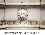 Ancient Marble Lion Head Bas...