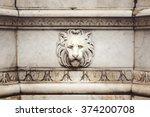 Ancient Marble Lion Head Bas...