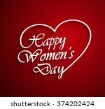 womens day logo on red... | Shutterstock .eps vector #374202424