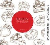dessert bakery sweet food...   Shutterstock .eps vector #374202673