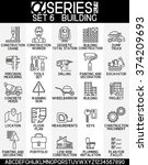 set of icons building  eps 8 | Shutterstock .eps vector #374209693