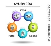 ayurveda vector illustration.... | Shutterstock .eps vector #374211790