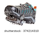 closeup of cycling shoes with... | Shutterstock . vector #374214310