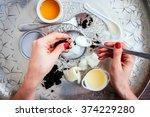 handmade cosmetic ingredients   ... | Shutterstock . vector #374229280