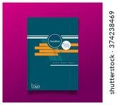 business brochure flyer cover... | Shutterstock .eps vector #374238469