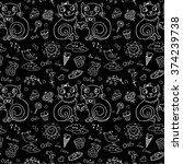 vector seamless pattern with... | Shutterstock .eps vector #374239738