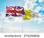 united kingdom   vatican flags... | Shutterstock . vector #374240836