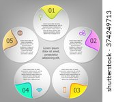 colorful infographics template... | Shutterstock .eps vector #374249713