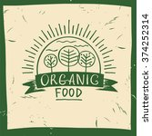 Vector Organic Food. Hand Draw...