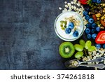 close up of tasty ingredients ... | Shutterstock . vector #374261818