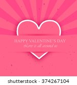 beautiful pink card for... | Shutterstock . vector #374267104