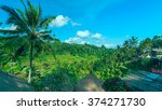 famous rice terraces near ubud... | Shutterstock . vector #374271730