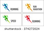 running man  sport colorful... | Shutterstock .eps vector #374272024