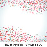 romantic pink and blue heart... | Shutterstock .eps vector #374285560