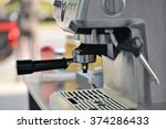 coffee maker in shop.   Shutterstock . vector #374286433