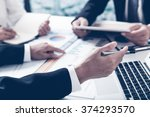 business adviser analyzing... | Shutterstock . vector #374293570