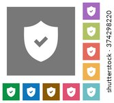 security active flat icon set...