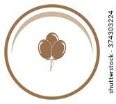 balloon sign icon.  | Shutterstock .eps vector #374303224