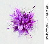 Watercolor Illustration Purple...