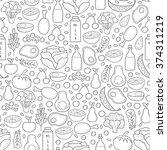 seamless pregnancy nutrition... | Shutterstock .eps vector #374311219
