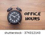 office hours    business... | Shutterstock . vector #374312143