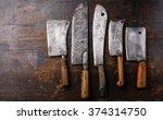 Vintage Butcher Meat Cleavers...