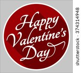 valentines day lettering... | Shutterstock . vector #374314948