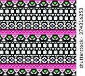 ethnic pattern | Shutterstock .eps vector #374316253
